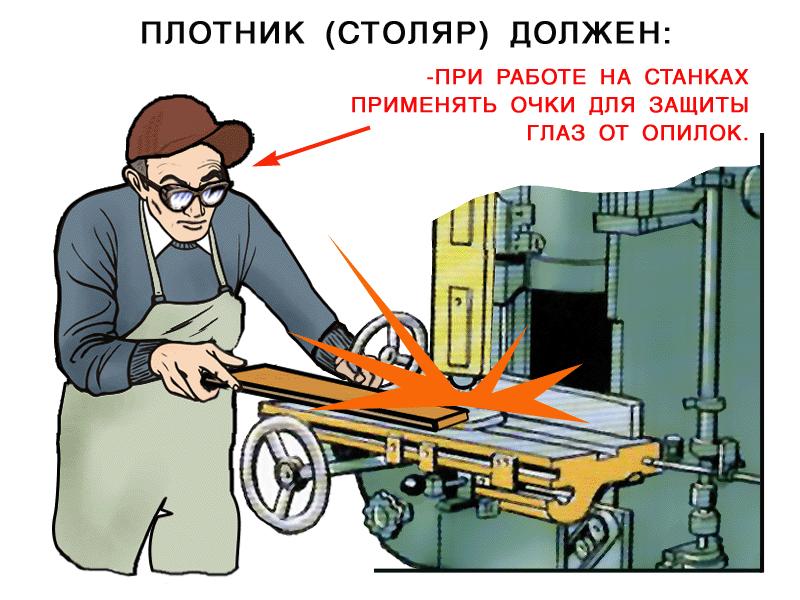 инструкция по технике безопасности столяра плотника